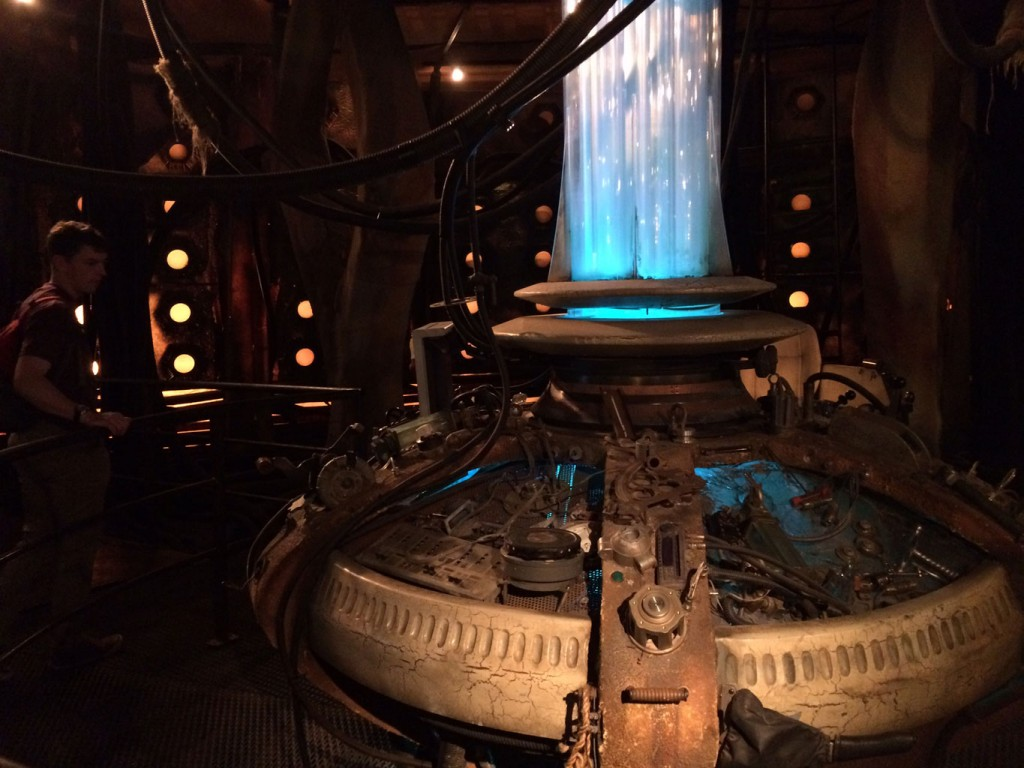 We got a view of the actual old Tardis set in the Dr. Who Experience.
