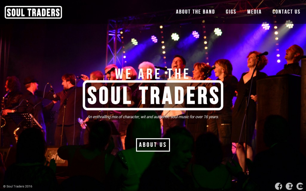 The brand new homepage of the soul traders site.