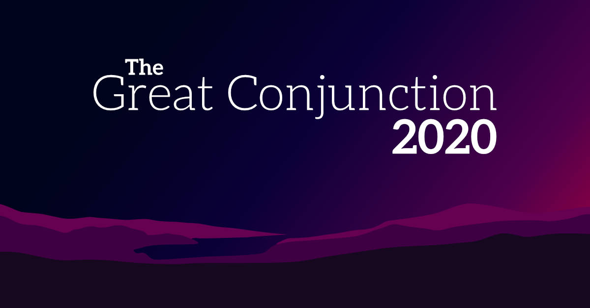 Great Conjunction 2020 logo and background